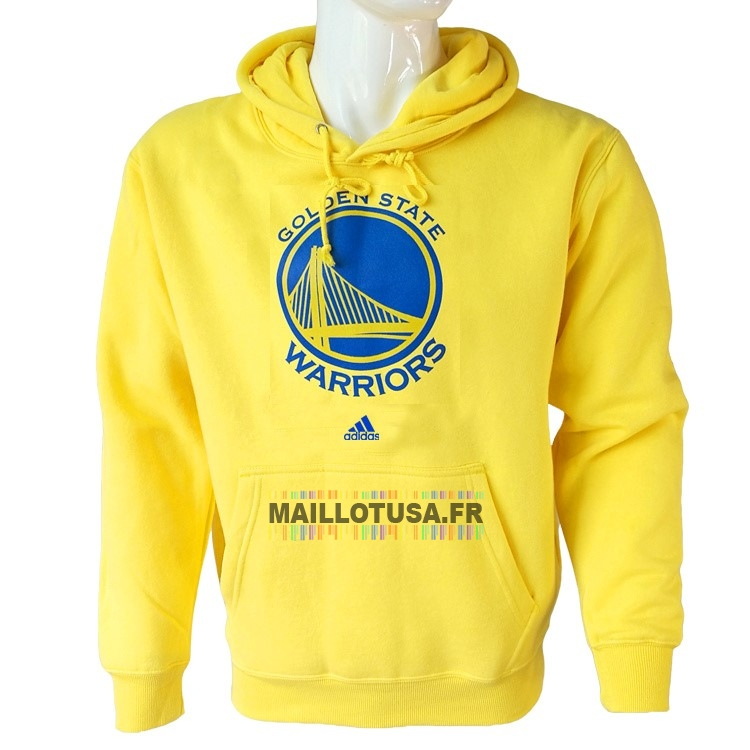 Maillot NBA Pas Cher - Hoodies NBA Golden State Warriors Jaune City
