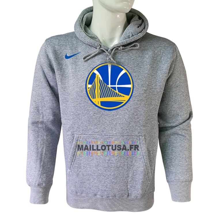 Maillot NBA Pas Cher - Hoodies NBA Golden State Warriors Nike Gris