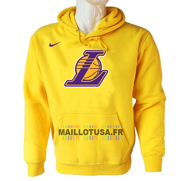Maillot NBA Pas Cher - Hoodies NBA Los Angeles Lakers Nike Jaune