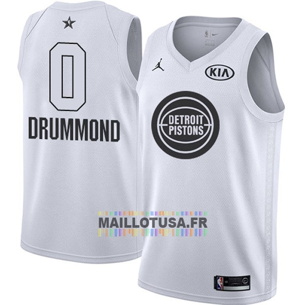Maillot NBA Pas Cher - Maillot NBA 2018 All Star NO.0 Andre Drummond Blanc
