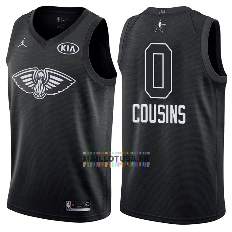 Maillot NBA Pas Cher - Maillot NBA 2018 All Star NO.0 DeMarcus Cousins Noir