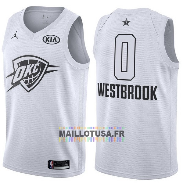 Maillot NBA Pas Cher - Maillot NBA 2018 All Star NO.0 Russell Westbrook Blanc