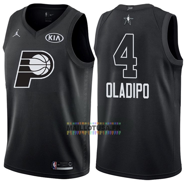 Maillot NBA Pas Cher - Maillot NBA 2018 All Star NO.4 Victor Oladipo Noir
