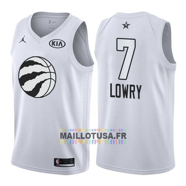 Maillot NBA Pas Cher - Maillot NBA 2018 All Star NO.7 Kyle Lowry Blanc