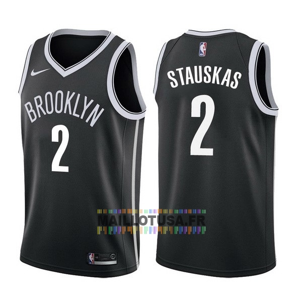 Maillot NBA Pas Cher - Maillot NBA Nike Brooklyn Nets NO.2 Akil Mitchell Noir Icon