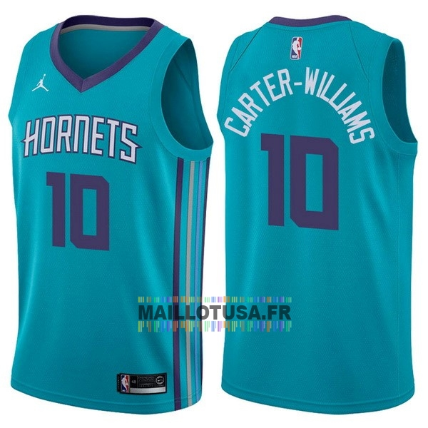 Maillot NBA Pas Cher - Maillot NBA Nike Charlotte Hornets NO.10 Michael Carter Williams Vert Icon