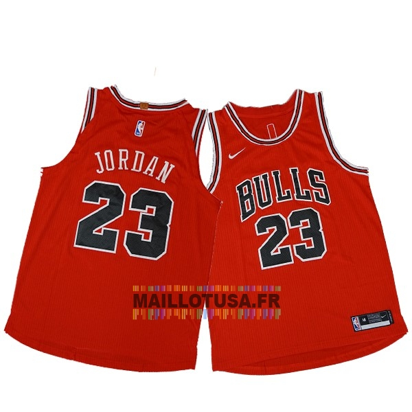 Maillot NBA Pas Cher - Maillot NBA Nike Chicago Bulls NO.23 Michael Jordan Rouge Icon