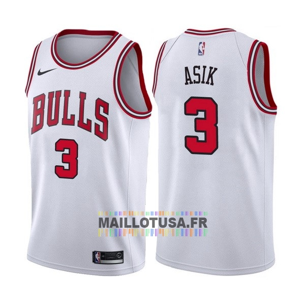 Maillot NBA Pas Cher - Maillot NBA Nike Chicago Bulls NO.3 Dwyane Wade Blanc Association