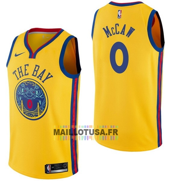 Maillot NBA Pas Cher - Maillot NBA Nike Golden State Warriors NO.0 Patrick McCaw Nike Jaune Ville