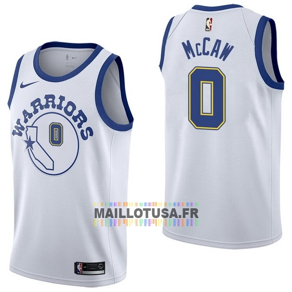 Maillot NBA Pas Cher - Maillot NBA Nike Golden State Warriors NO.0 Patrick McCaw Nike Retro Blanc
