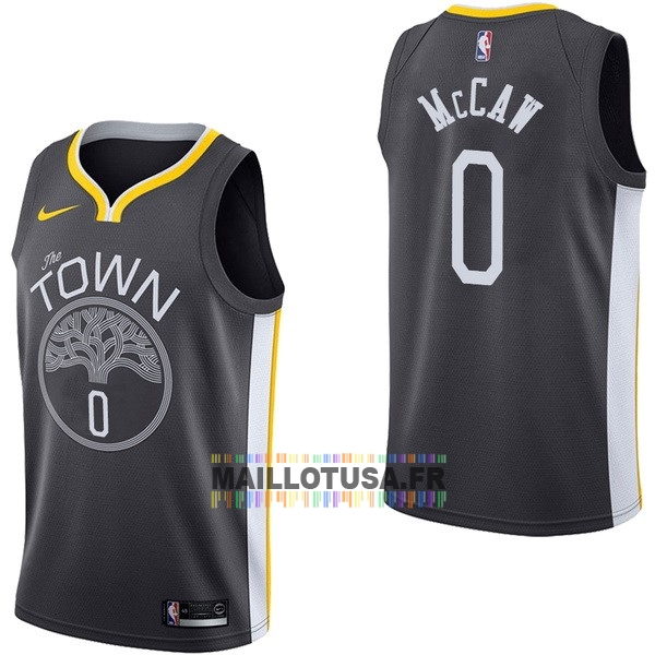 Maillot NBA Pas Cher - Maillot NBA Nike Golden State Warriors NO.0 Patrick McCaw Noir Statement