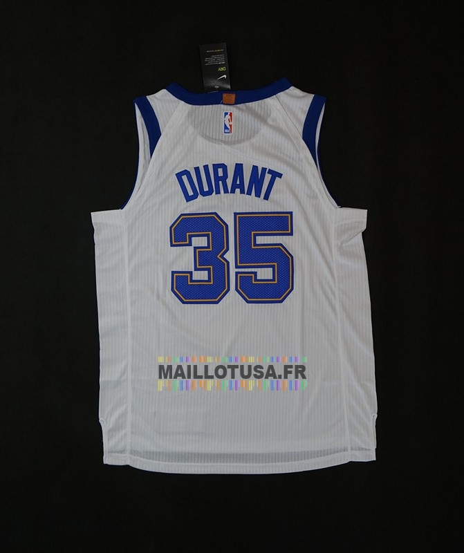 Maillot NBA Pas Cher - Maillot NBA Nike Golden State Warriors NO.35 Kevin Durant Retro Blanc