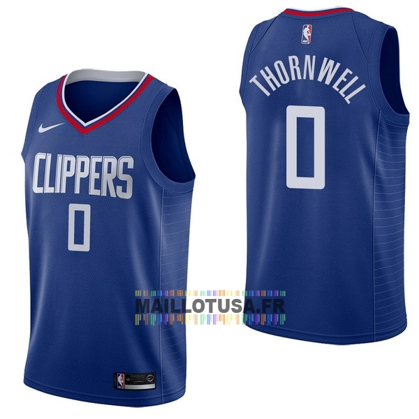Maillot NBA Pas Cher - Maillot NBA Nike Los Angeles Clippers NO.0 Sindarius Thornwell Bleu Icon