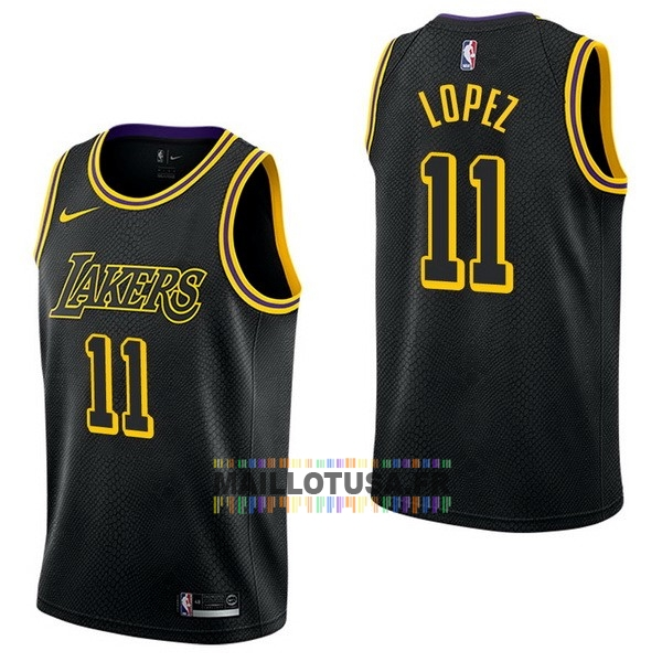 Maillot NBA Pas Cher - Maillot NBA Nike Los Angeles Lakers NO.11 Brook Lopez Nike Noir Ville