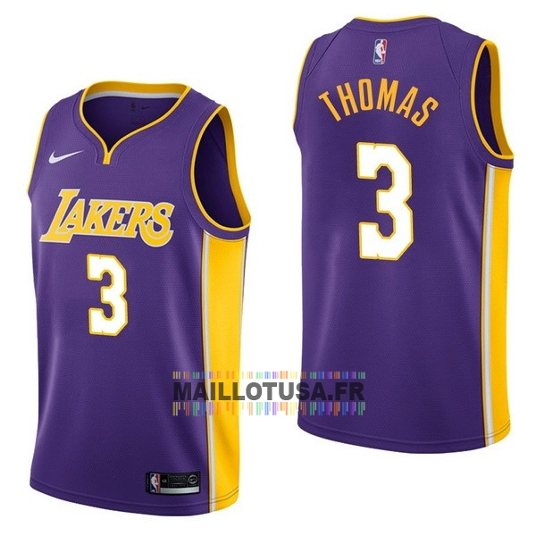 Maillot NBA Pas Cher - Maillot NBA Nike Los Angeles Lakers NO.3 Isaiah Thomas Pourpre Statement