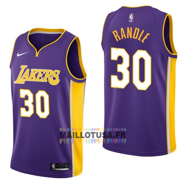 Maillot NBA Pas Cher - Maillot NBA Nike Los Angeles Lakers NO.30 Julius Randle Pourpre Statement