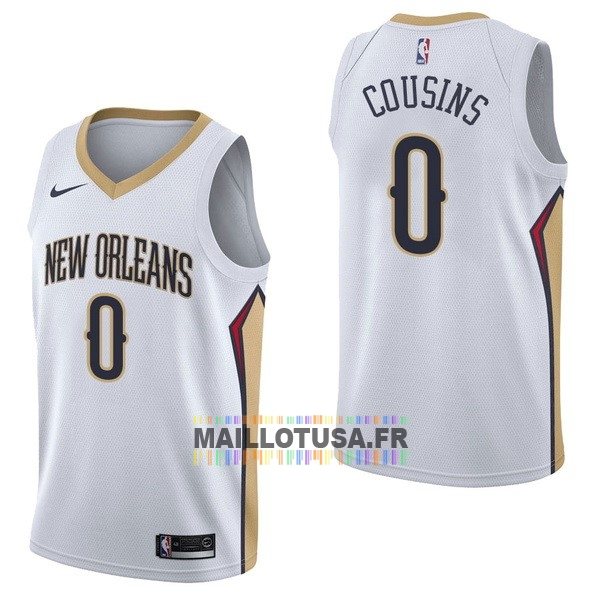 Maillot NBA Pas Cher - Maillot NBA Nike New Orleans Pelicans NO.0 DeMarcus Cousins Blanc Association