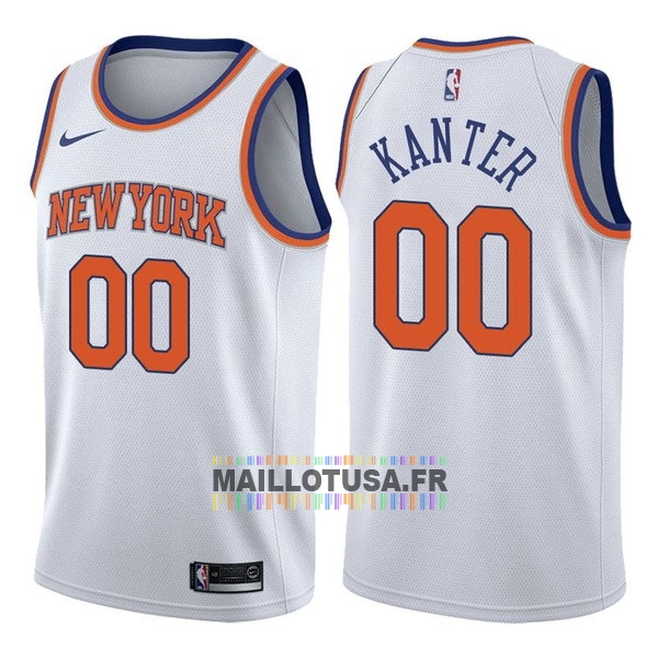 Maillot NBA Pas Cher - Maillot NBA Nike New York Knicks NO.0 Enes Kanter Blanc Association