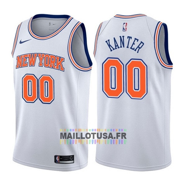 Maillot NBA Pas Cher - Maillot NBA Nike New York Knicks NO.0 Enes Kanter Blanc Statement