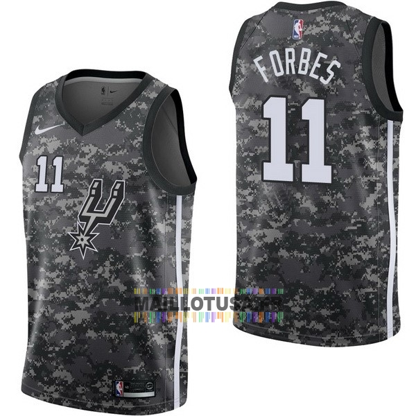 Maillot NBA Pas Cher - Maillot NBA Nike San Antonio Spurs NO.11 Bryn Forbes Nike Camouflage Ville