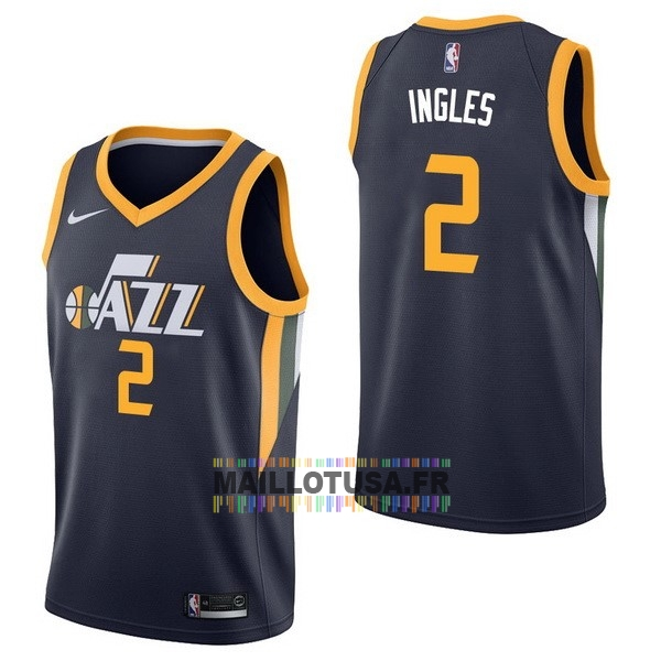 Maillot NBA Pas Cher - Maillot NBA Nike Utah Jazz NO.2 Joe Ingles Marine Icon