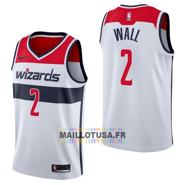 Maillot NBA Pas Cher - Maillot NBA Nike Washington Wizards NO.2 John Wall Blanc Association