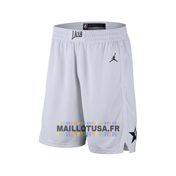 Maillot NBA Pas Cher - Short Basket 2018 All Star Blanc