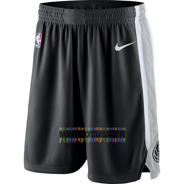 Maillot NBA Pas Cher - Short Basket Brooklyn Nets Nike Gris