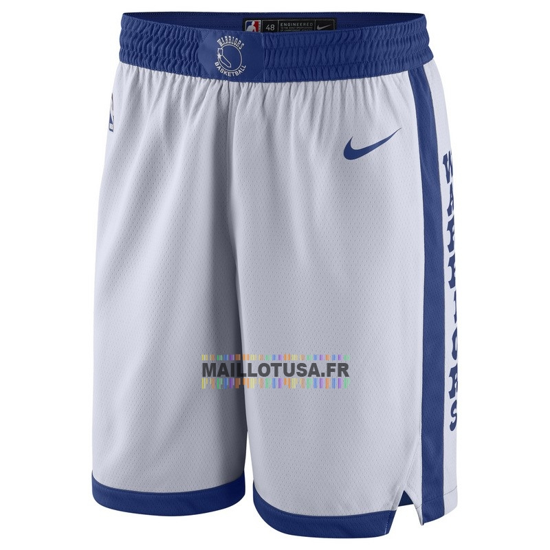 Maillot NBA Pas Cher - Short Basket Golden State Warriors Nike Retro Blanc