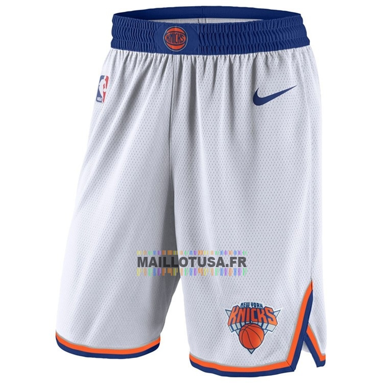 Maillot NBA Pas Cher - Short Basket New York Knicks Nike Blanc