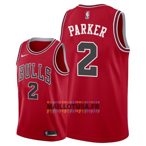 Maillot NBA Pas Cher - Maillot NBA Nike Chicago Bulls NO.2 Jabari Parker Rouge Icon 2018