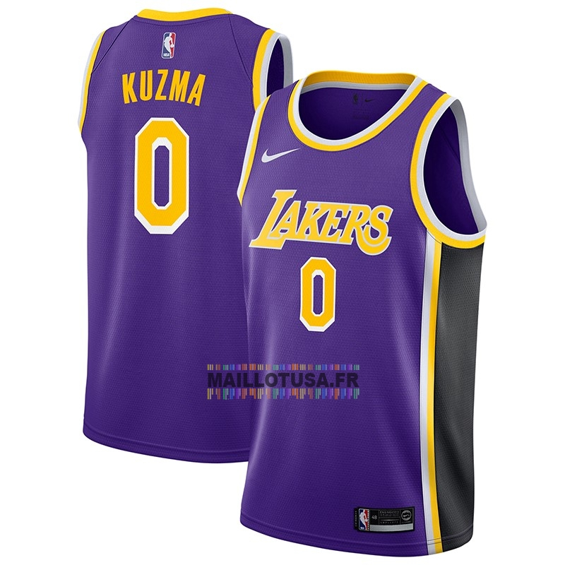 Maillot NBA Pas Cher - Maillot NBA Nike Los Angeles Lakers NO.0 Kyle Kuzma Pourpre Statement 2018-19