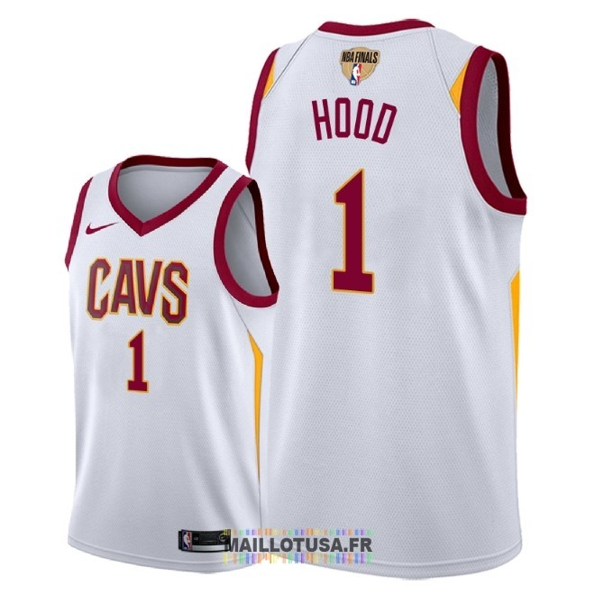 Maillot NBA Cleveland Cavaliers 2018 Final Champions NO.1 Rodney Hood Blanc Association Patch
