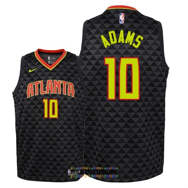 Maillot NBA Enfant Atlanta Hawks NO.10 Jaylen Adams Noir Icon 2018-19