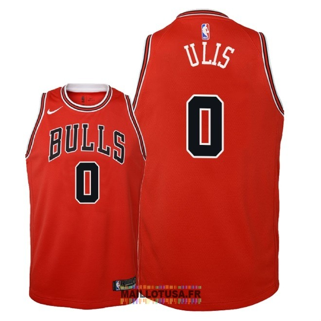 Maillot NBA Enfant Chicago Bulls NO.0 Tyler Ulis Rouge Icon 2018