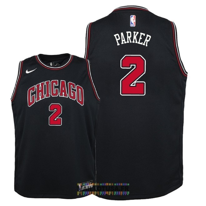 Maillot NBA Enfant Chicago Bulls NO.2 Jabari Parker Noir Statement 2018