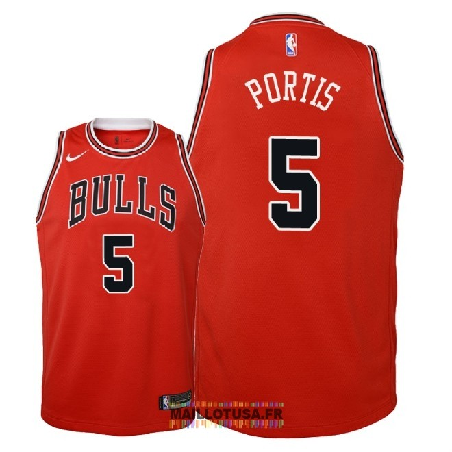 Maillot NBA Enfant Chicago Bulls NO.5 Bobby Portis Rouge Icon 2018