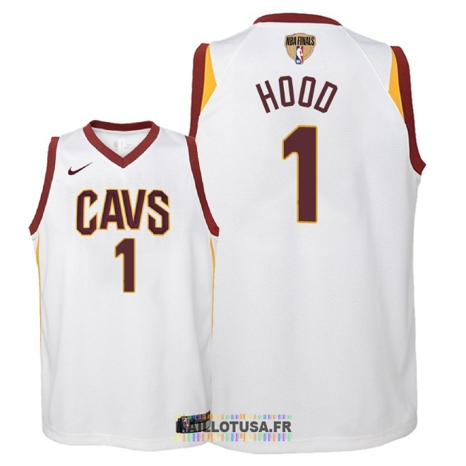 Maillot NBA Enfant Cleveland Cavaliers 2018 Final Champions NO.1 Rodney Hood Blanc Association Patch