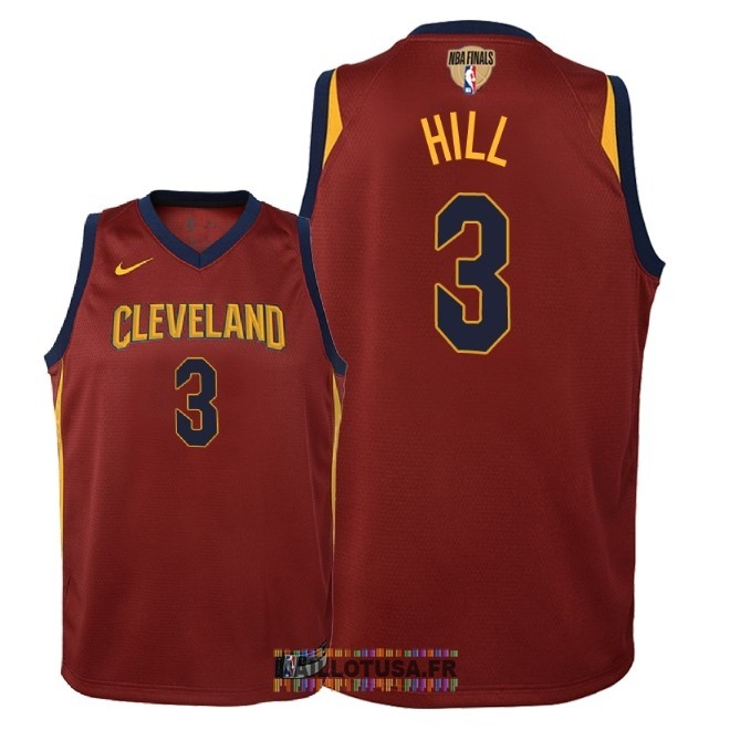 Maillot NBA Enfant Cleveland Cavaliers 2018 Final Champions NO.3 George Hill Rouge Icon Patch