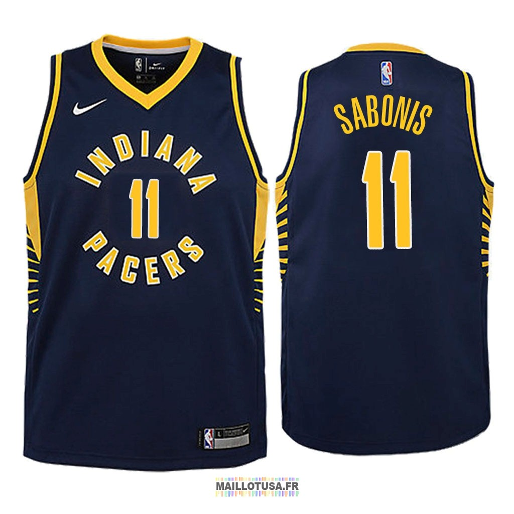 Maillot NBA Enfant Indiana Pacers NO.11 Domantas Sabonis Marine Icon 2018