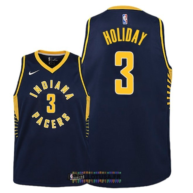 Maillot NBA Enfant Indiana Pacers NO.3 Aaron Holiday Marine Icon 2018-19