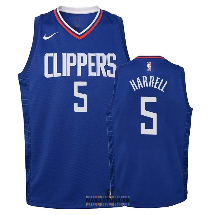 Maillot NBA Enfant Los Angeles Clippers NO.5 Montrezl Harrell Bleu Icon 2018