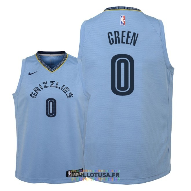 Maillot NBA Enfant Memphis Grizzlies NO.0 JaMychal Green Bleu Statement 2018-19