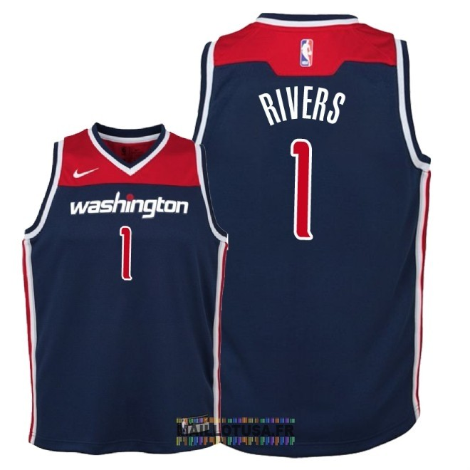 Maillot NBA Enfant Washington Wizards NO.1 Austin Rivers Marine Statement 2018