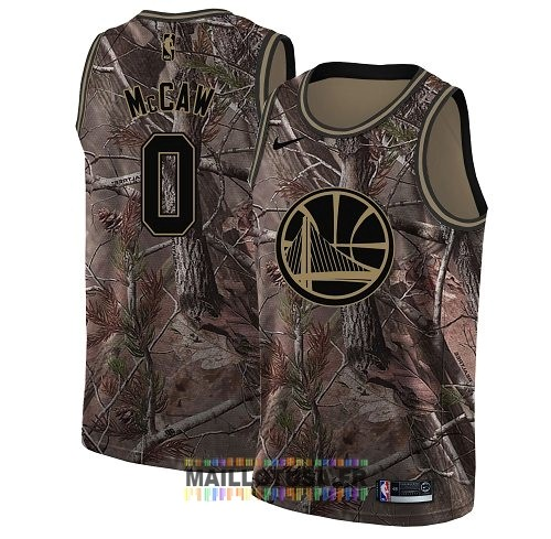 Maillot NBA Golden State Warriors NO.0 Patrick McCaw Camo Swingman Collection Realtree 2018