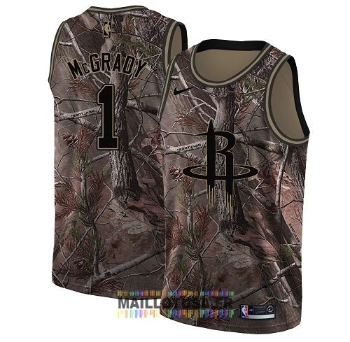 Maillot NBA Houston Rockets NO.1 Tracy McGrady Camo Swingman Collection Realtree 2018