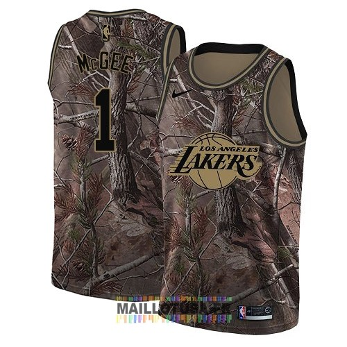 Maillot NBA Los Angeles Lakers NO.1 JaVale McGee Camo Swingman Collection Realtree 2018