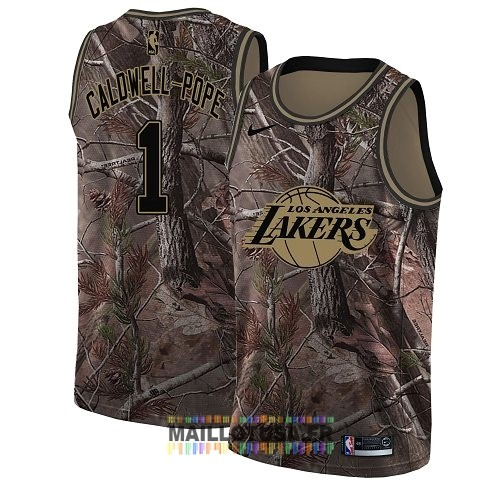 Maillot NBA Los Angeles Lakers NO.1 Kentavious Caldwell Pope Camo Swingman Collection Realtree 2018