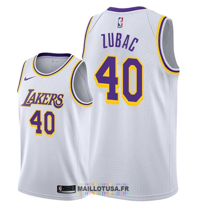 Maillot NBA Nike Los Angeles Lakers NO.40 Ivica Zubac Blanc Association 2018-19