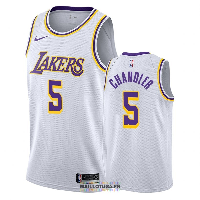 Maillot NBA Nike Los Angeles Lakers NO.5 Tyson Chandler Blanc Association 2018-19